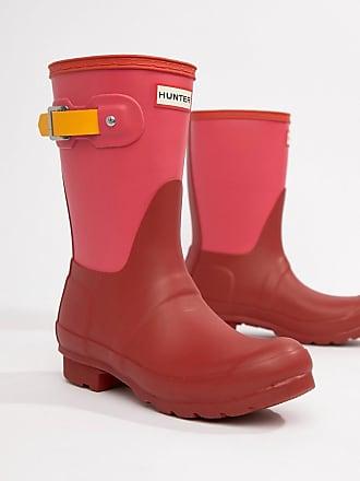 4d40f281d64 Hunter Botas de agua de bajas rojas colour block Original de Hunter