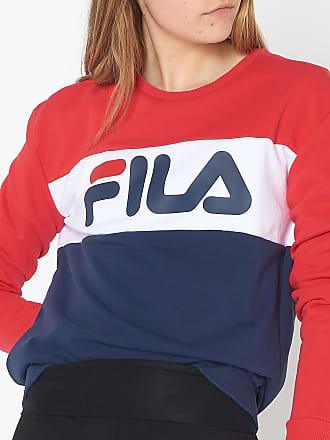 FILA Sweat à capuche sérigraphié en coton mélangé Rouge 65