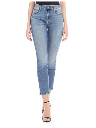 7 For All Mankind Sanded Skinny Relaxed jeans in blue