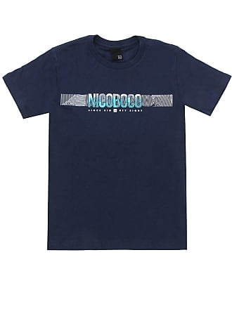 NICOBOCO Camiseta Nicoboco Menino Liso Azul-Marinho
