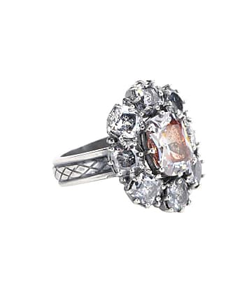 Bottega Veneta Sterling silver ring with cubic zirconia