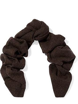 N.Peal N.peal Woman Ribbed Cashmere Scarf Chocolate Size
