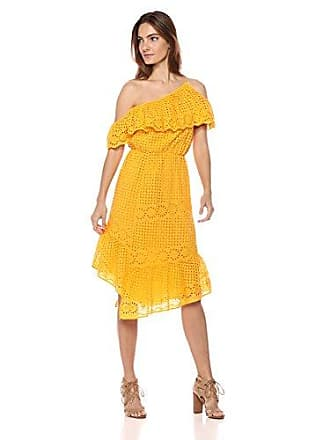 Joie Womens Corynn Lace One-Shoulder Dress, Cornsilk, xs