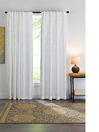 Better Homes & Gardens Chandeliers Jacquard Window Curtain Set White - HALL197-4