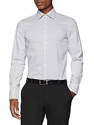 a8b2271fc838 Seidensticker Camicia Business Uomo Grigio (Grau 33) 44 cm