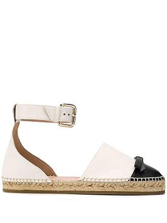 Red Valentino bow detail espadrilles - White