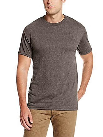 e75855797 Soffe Mens Pro Weight Short Sleeve Tee, Brown Heather, Large