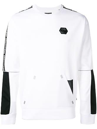 Philipp Plein printed logo sweater - White