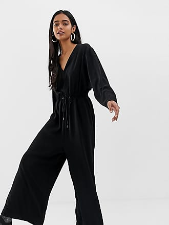 Weekday jumpsuit with drawstring waist in black