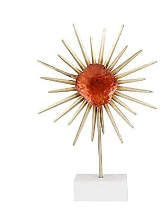 Sagebrook Home 11232 Metal Flower Sculpture On Stand, Red Metal, 15 x 3.25 x 22.25 Inches