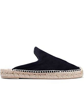 Rag & Bone Rag & Bone Woman Clio Suede Espadrille Slippers Midnight Blue Size 35