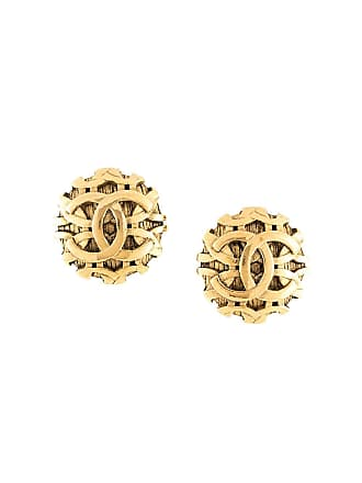 Chanel oversized CC earrings - Gold
