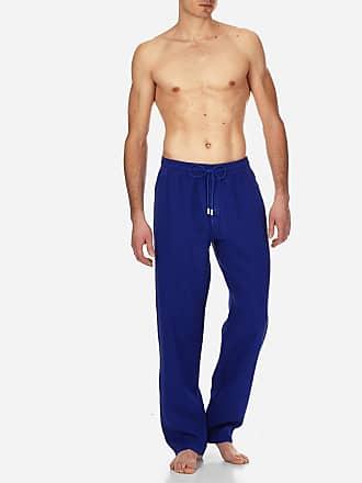 Vilebrequin Men Ready to Wear - Men Linen Pants Solid - PANT - PACHA - Blue - XXXL - Vilebrequin