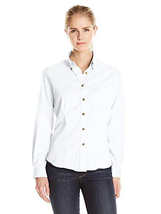 Lee Lee Womens Plus Size Dual Action Long Sleeve Work Shirt, White, XX-Large
