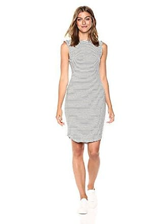 cupcakes and cashmere Womens Lorena Striped Knit Dress, Ink, Large