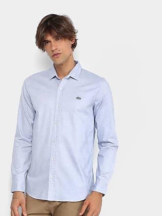 cee0642d4d Lacoste Camisa Lacoste Maquinetada Poá Slim Fit Masculina - Masculino