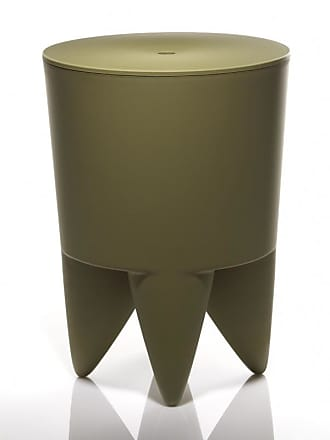 XO Design Bubu Ier Hocker - khaki/durchgefärbt/H 43cm/Ø 32,5cm