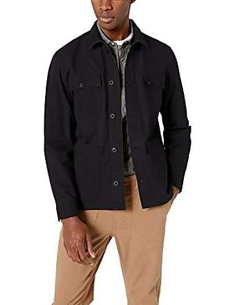 Amazon Essentials Mens Shirt Jacket, Black, X-Small