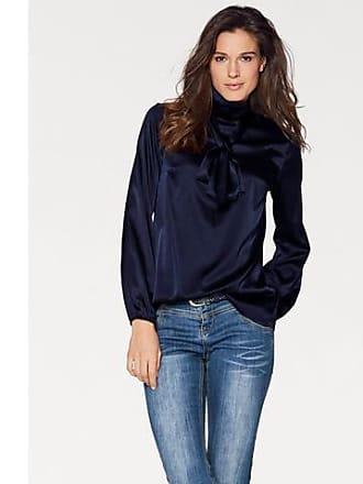 donkerblauwe zijden blouse