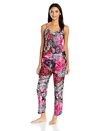 Natori Womens Challis Jumpsuit, Pink/Multi, XL