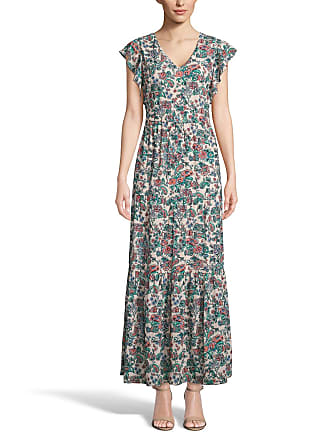 5twelve Floral V-Neck Flutter-Sleeve Tiered Maxi Dress