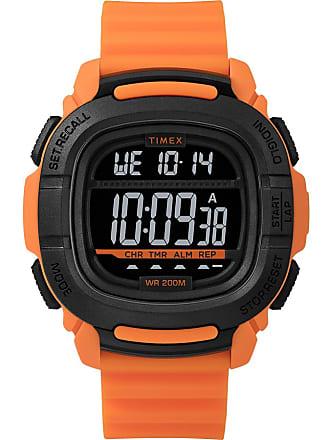 Timex Watch Mens Bst.47 47MM Silicone Strap Orange/orange/digital Item Tw5M26500Za