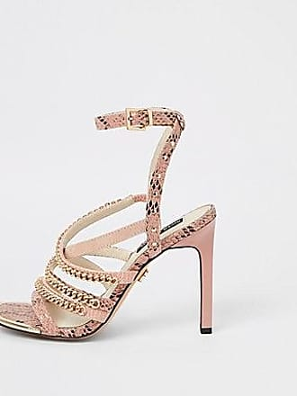 a035c22fd52 River Island Womens Pink multi chain strap heel sandal. In high demand