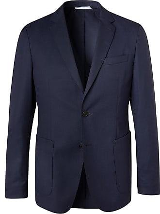 HUGO BOSS Navy Hooper Slim-fit Unstructured Virgin Wool-blend Suit Jacket - Navy