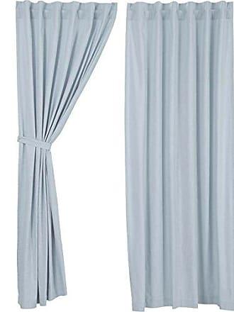 VHC Brands Farmhouse Window Regina Blue Curtain Panel Pair, 96 x 55, Olive