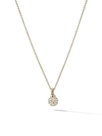 David Yurman 18kt yellow gold Solari diamond pendant necklace - 88Adi