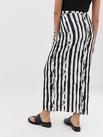 48eb0b3f27 Asos Maternity ASOS DESIGN Maternity wrap maxi skirt in mono stripe print -  Multi