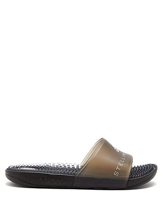 1fba399f9ea2 adidas by Stella McCartney Adidas By Stella Mccartney - Adissage Logo Print  Rubber Slides - Womens