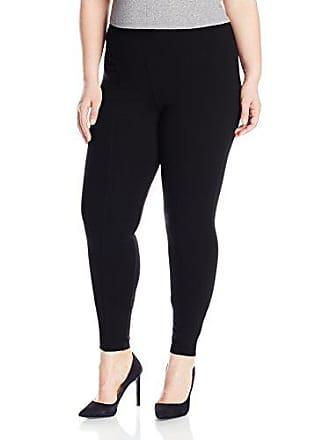 Hue Womens Plus Size High Waist Ponte Leggings, Black, 1X