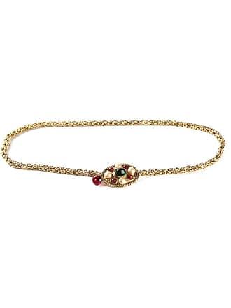 Chanel pearl embellished chain belt - Metallic
