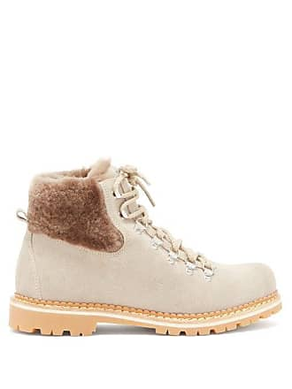 Montelliana Camelia Suede Boots - Womens - Beige