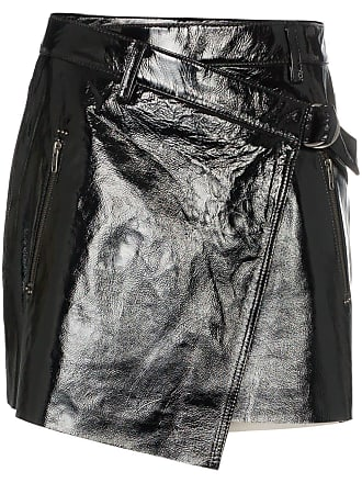 177cf0be2d Ksubi wrapover patent leather mini skirt - Black