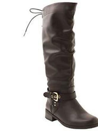ce90b64b0492 xoxo Womens Monika Wide Calf Riding Boot - Black - Size  7.5