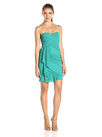 Minuet Womens Strapless Grecian Draped Dress - Emerald, Medium