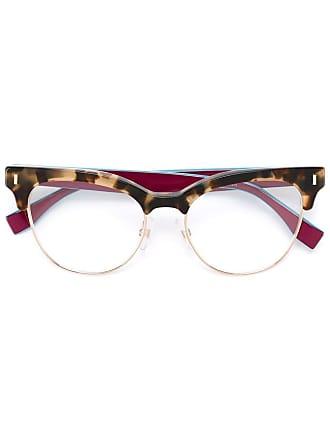 Fendi Óculos com armação gatinho - Marrom