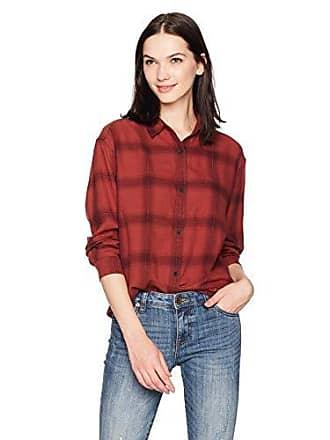 43e16ce155e Calvin Klein Jeans Womens Long Sleeve Shadow Plaid Cozy Hi-Low Button Down  Shirt