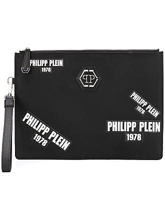 Philipp Plein Bolsa clutch com logo - Preto