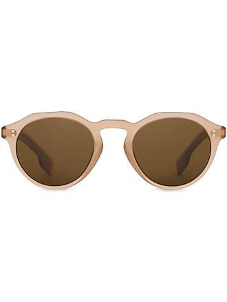 Burberry Sunglasses Keyhole Round Frame Sunglasses - Brown b00a41fca4b