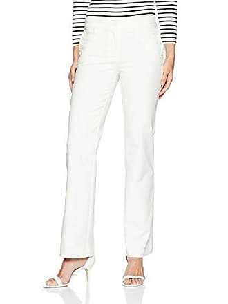 Anne Klein Womens Cotton Double Weave Sailor Pant, White, 8