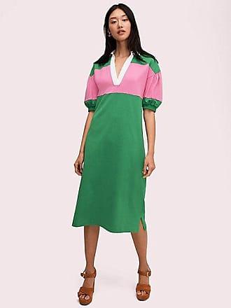 Kate Spade New York Stripe Polo Knit Dress, Desert Palm - Size XXS