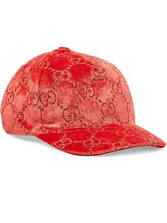 f3b7e0dcc4e Gucci Metallic Velvet-jacquard Baseball Cap - Red