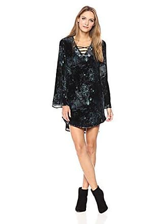 Haute Hippie Womens Lace Up Tunic Dress, Moonlight Floral 10