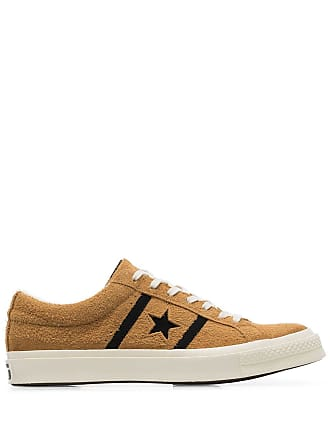 e815af47da6649 Converse yellow and black one star academy suede leather low top sneakers