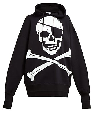 a3f7cffbe VETEMENTS Pirate Print Oversized Cotton Hooded Sweatshirt - Womens - Black
