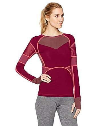 Maaji Womens Assemble Fashion Long Sleeve Top, Burgundy, M