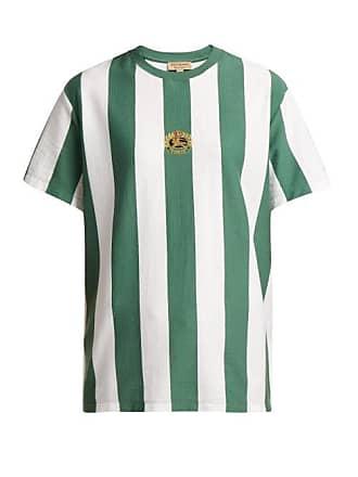 Burberry Logo Crest Cotton T Shirt - Womens - Green White